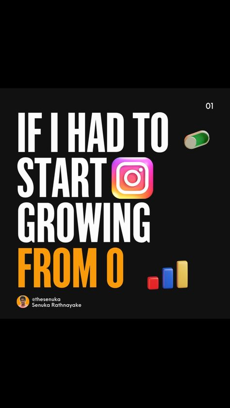 IF I HAD TO START GROWING FROM 0 ON INSTAGRAM