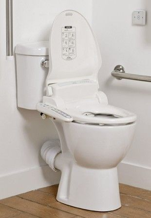 Disabled Toilet Equipped With Bio Bidet Handicap Toilet