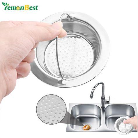 1 Pcs Stainless Steel Round Drain Kitchen Sink Strainer Filter