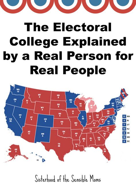 The Electoral College Explained for You and Your Kids - Sisterhood of the Sensible Moms