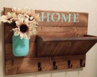 Home Decorating Ideas Rustic Key Holder Rustic Home Decor Key Rack Home Sign Mail Holder Mail Organiz Cheap Home Decor Easy Home Decor Rustic Home Decor