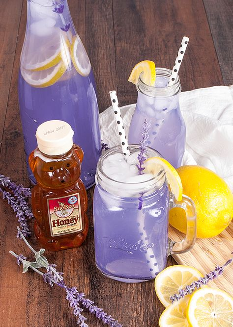 Sweet, tart and floral flavors combine perfectly in our Honey Lavender Lemonade! This tasty and easy to make drink will refresh you and calm you after a long, hot day.
