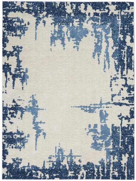 Dramatic Distressed Patterns Of Ombre Navy Blue Give Etchings Collection Area Rug A Sense Of Vintage Elegance With Its Area Rugs Blue Abstract Blue Area Rugs