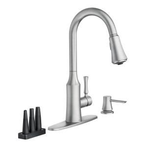 Moen Venango Single Handle Pull Down Sprayer Kitchen Faucet With