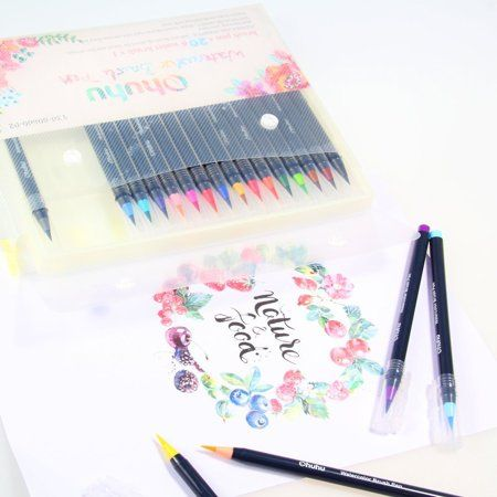 Ohuhu 20 Colors Watercolor Brush Marker Pens W X2f A Water