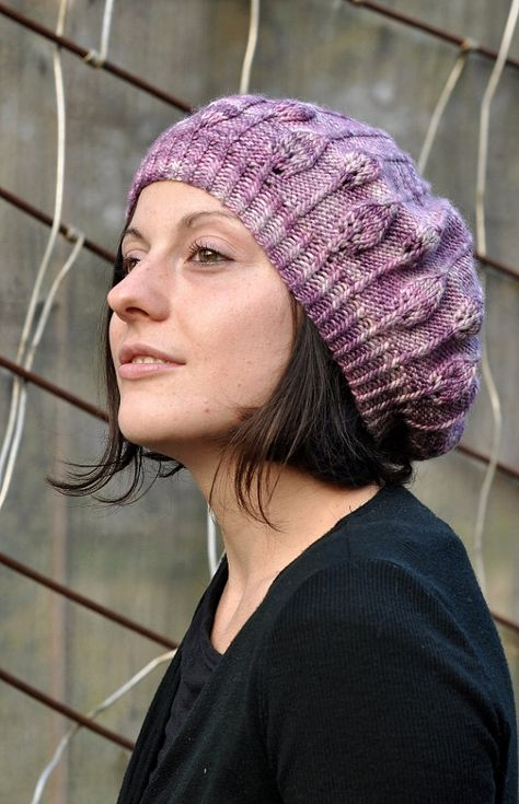 09762a593200e Limpetiole beret PDF knitting pattern by WoollyWormheadHats
