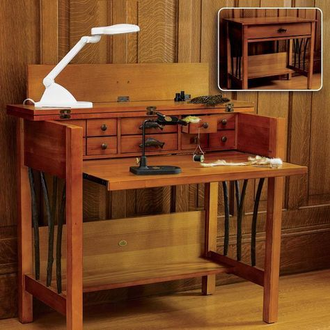 Pin By Faustin Moreau On Fly Fishing Fly Tying Desk Fly Tying Fishing Room