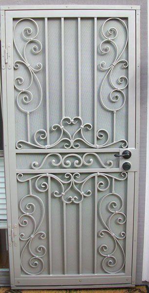 Security Screen Doors Archives Whiting Iron And Great Gates In Phoenix Az Portas De Ferro Portas De Ferro Forjado Decoracao De Ferro