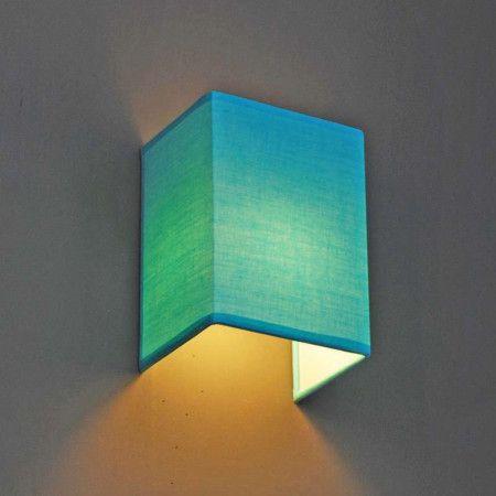 Wandlampe Kinderzimmer | Wandleuchte Vete Aqua Wandleuchte Wandlampe Stoffschirm