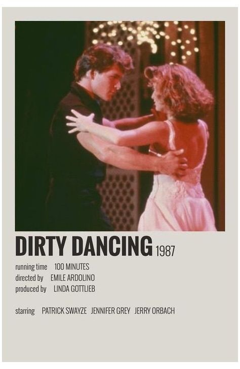 minimal movie posters dirty dancing