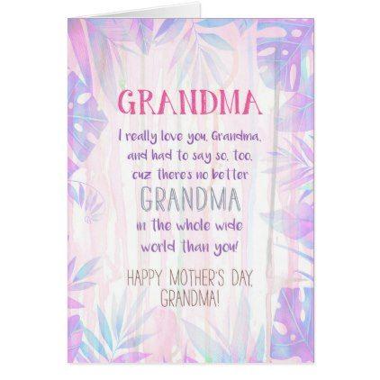 Best Grandma Mother 39 S Day Card Giftidea Giftideas Gifts For Grandpa Grandma Grandparents Grandma Cards Grandma Birthday Card Personal Cards