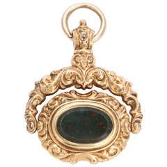 The Dignity of a Victorian Bloodstone Swivel Fob