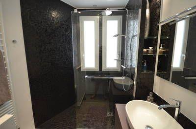 réalisations : Une salle d\'eau en mosaique noire pour un ...