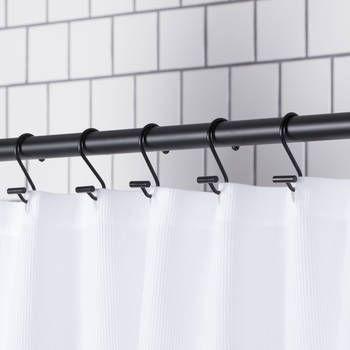 Set Of 12 Shower Curtain Hooks Modern Shower Curtains Black Shower Curtains Bathroom Shower Curtains
