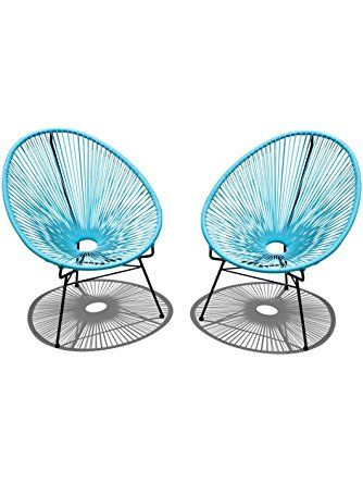 Harmonia Living 2 Piece Acapulco Lounge Chair Set Small Glacier Blue Harmonia Living Modern Outdoor