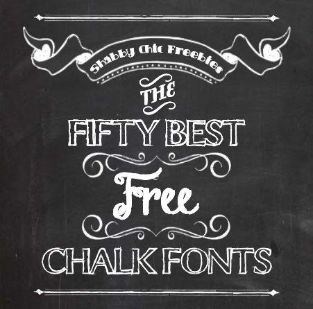 Shabby Chic Freebies Fifty Free Chalk Fonts Free Chalkboard Fonts Chalkboard Fonts Chalk Fonts