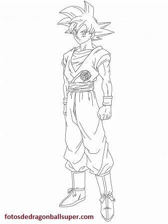 Tres Super Imagenes De Goku Fase Dios Para Colorear A Lapiz
