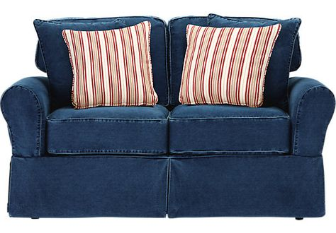 Cindy Crawford Home BeachSide Blue Denim Sofa | Better Blue Sofa | Pinterest | Denim sofa Reupholster couch and Denim couch : blue jean sectional couch - Sectionals, Sofas & Couches
