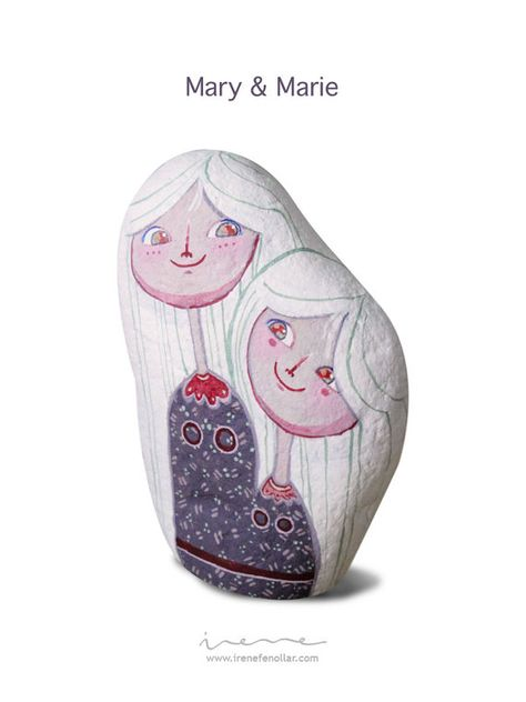 Mary & Marie by IreneFenollar on Etsy, €50.00  Mary & Marie  Size / Dimensiones:  16 x 10'5 x 5'5 cm.  Weight/ Peso:  1'200 Kg.