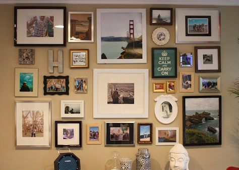 Picture wall...its just so interesting.