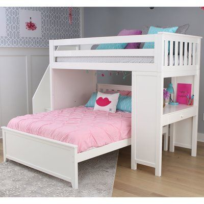 Sand Stable Baby Kids Amyris Twin Over Full L Bunk Bed By Sand Stable Bunk Beds With Drawers L Shaped Bunk Beds Bed For Girls Room L shaped bunk beds with stairs