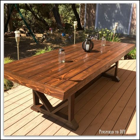 Diy Large Outdoor Dining Table In 2020 Outdoor Patio Table