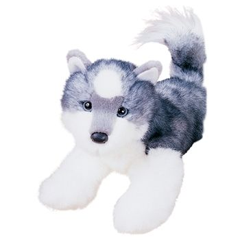 Joli the 12 Inch Stuffed Husky Puppy by Douglas by Douglas is ready to bring you your evening paper and house slippers. If you don't own slippers and you