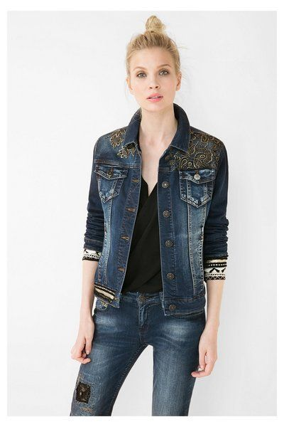 187ee0c5d3c0 Women's denim jacket Desigual. Discover the fall-winter 2016 collection!