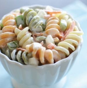 Every summer picnic needs a pasta salad. Creamy Pasta Salad is perfect because it is made way ahead of time. Just be sure to keep it well chilled at your gathering.