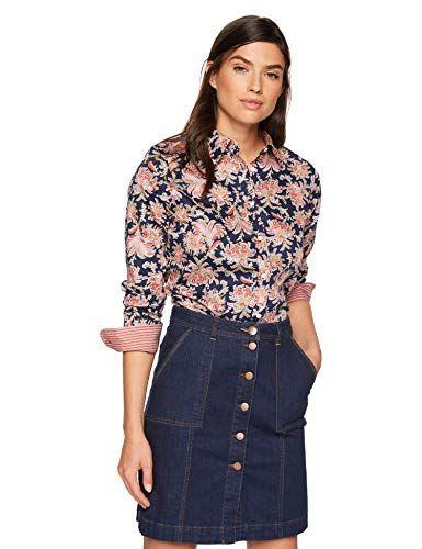 Chaps Womens Long Sleeve Non Iron Cotton Sateen-Shirt