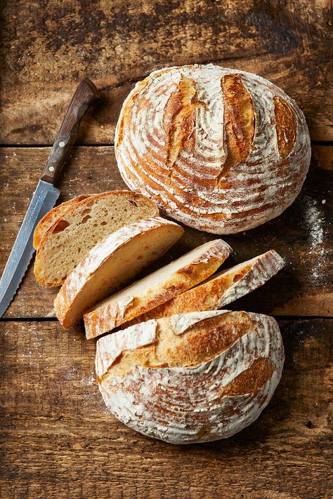 We'll teach you everything you need to know about how to make sourdough bread at home, including how to make a sourdough starter. #breadrecipe #sourdoughrecipe #sourdoughstarter #howtobakebread #bhg