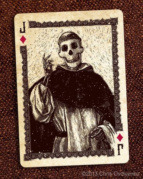Jack of Diamonds-Calaveras — Playing cards inspired by the Day of the Dead by Chris Ovdiyenko — Kickstarter