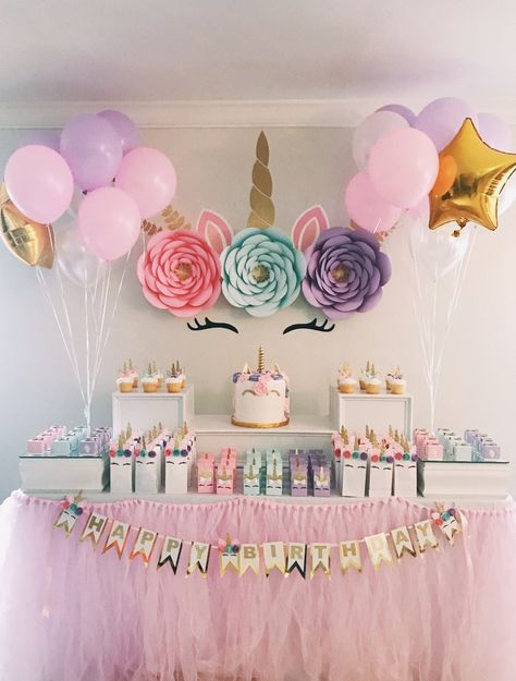 Party Paper Flower Backdrop Unicorn Party Paper Flower BackdropBackdrop Backdrop or Bankdrops may refer to: Unicorn Themed Birthday Party, First Birthday Parties, Girl Birthday, First Birthdays, Birthday Ideas For Girls, Flowers For Birthday, Craft Birthday Party, Unicorn Party Bags, Birthday Cake