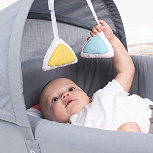 Portable Infant Bed Folds Into Backpack With Activity Bar
