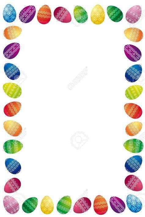 15 Awesome easter egg border images images Easter Egg Hunt and