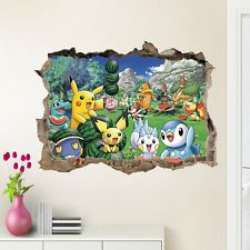 2 Pack Pokemon Posters for Boys Girls Room Pokemon Room Decorations with Stickers Pokemon Decorations Bundle Pokemon Party Favors Set