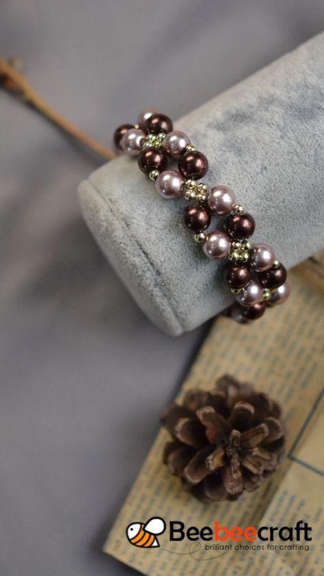 Beebeecraft Tutorials on how to make bracelet with pearlbeads. Beebeecraft Tutorials on how to make bracelet with pearlbeads.