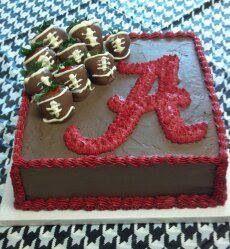 Astounding 279 Best Alabama Crimson Tide Cakes Images Alabama Cakes Personalised Birthday Cards Veneteletsinfo