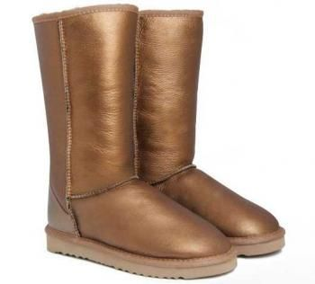 ugg metallic gold