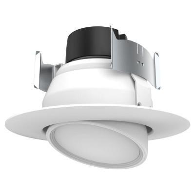 Halco Lighting Technologies 50 Watt Equivalent 9 Watt 4 In Dimmable White Integrated Led Recessed Adjustable Gimbal Retrofit Trim Warm White 99966 Led Recessed Lighting Led Recessed Ceiling Lights Replace Light Fixture