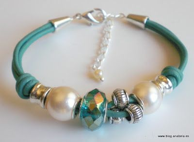 www.blog.anabela.es   Pulsera cuero #leather bracelet