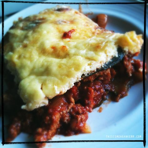 Turkey zucchini lasagne - low fat, low carb and gluten free!