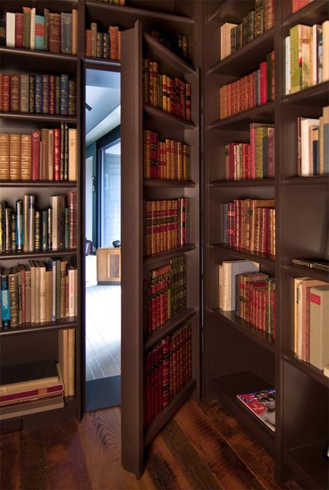 Secret door in a library - Contemporary Home Office by Reader & Swartz Architects, P. Secret door in a library - Contemporary Home Office by Reader & Swartz Architects, P. Library Bedroom, Home Library Rooms, Cozy Library, Home Library Design, Dream Library, Home Libraries, Home Office Design, Design Desk, Library Ideas