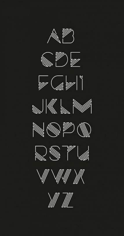 23 Ideas Art Deco Typography Alphabet Fonts For 2019
