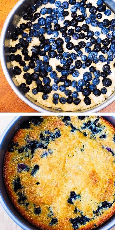 Blueberry Greek Yogurt Cake