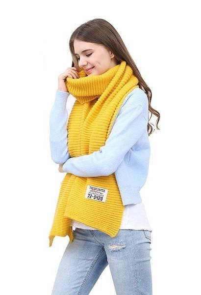 df110a834 [FEILEDIS]women winter scarves and wraps red cashmere knitted scarf for  women large big scarf FD197