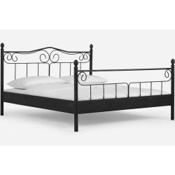 Dico Metallbett Zypern 140210 Cm 956 Schwarz Silber Gewischt Dico In 2020 Furniture Furniture Logo Bed