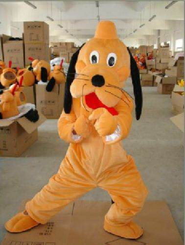 Pluto Dog Mascot Costumes Cosplay Halloween Birthday Party Dress Adult Size Suit