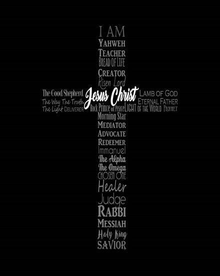 Names Of Jesus Cross Silhouette Black Art Print Inspire Me Art Com Names Of Jesus Jesus On The Cross Jesus Wallpaper