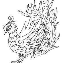 Phoenix   Раскраски, Рисунки и Птицы